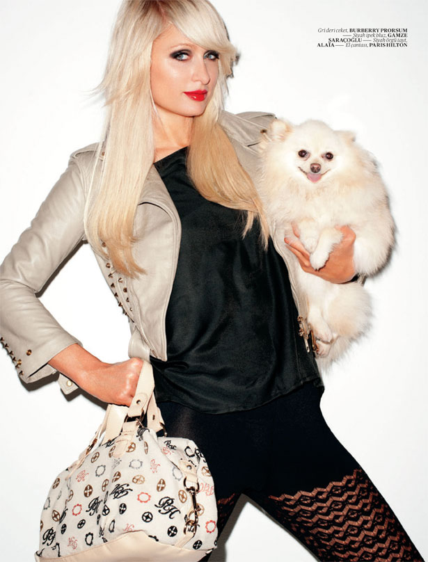 Paris Hilton wears Symbolic from Paris Hilton Handbags & Accessories