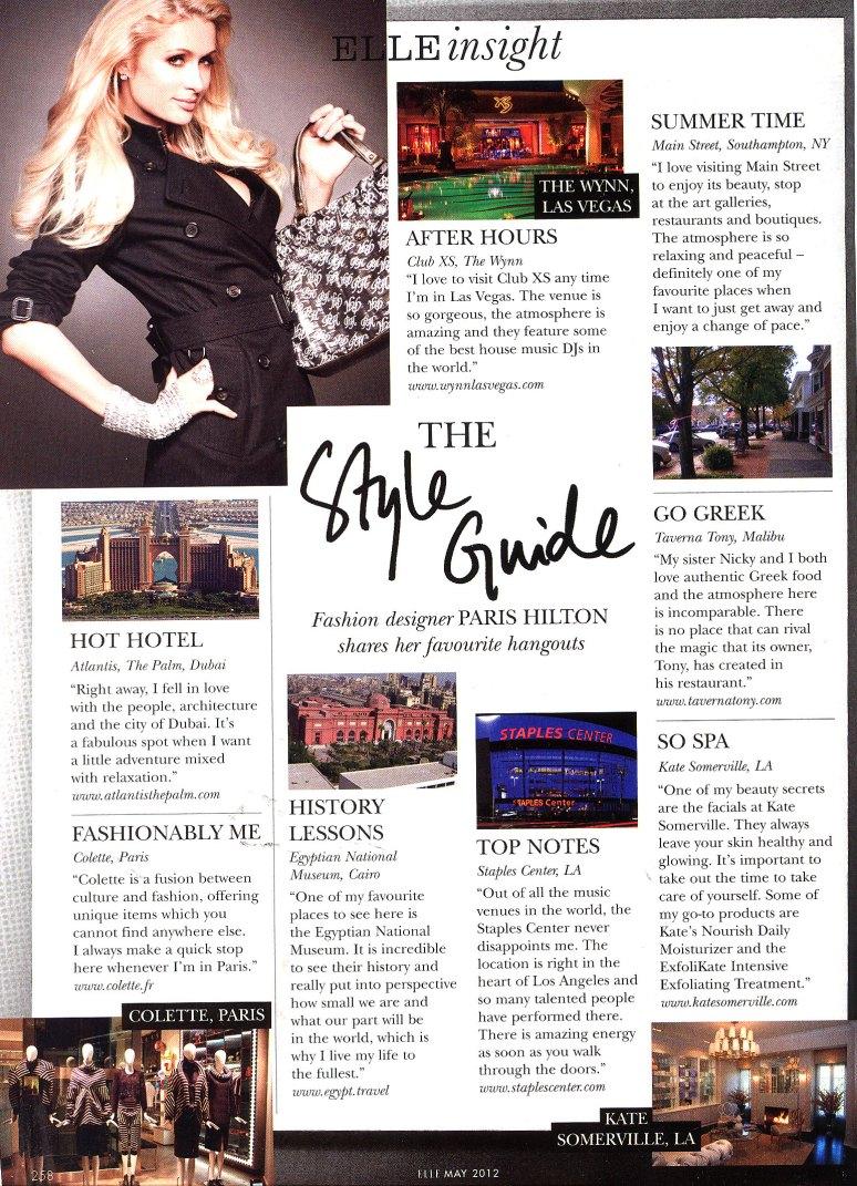 Paris Hilton's Style Guide - Elle Magazine
