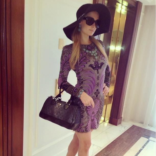 0513_Paris_Hilton_Handbag_FW13_NeonStar_Cannes_Instagram