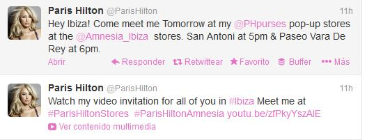 Paris Hilton invitation